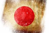 Japanska flaggan — Stockfoto