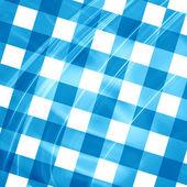 Blue picnic cloth — Stock Photo