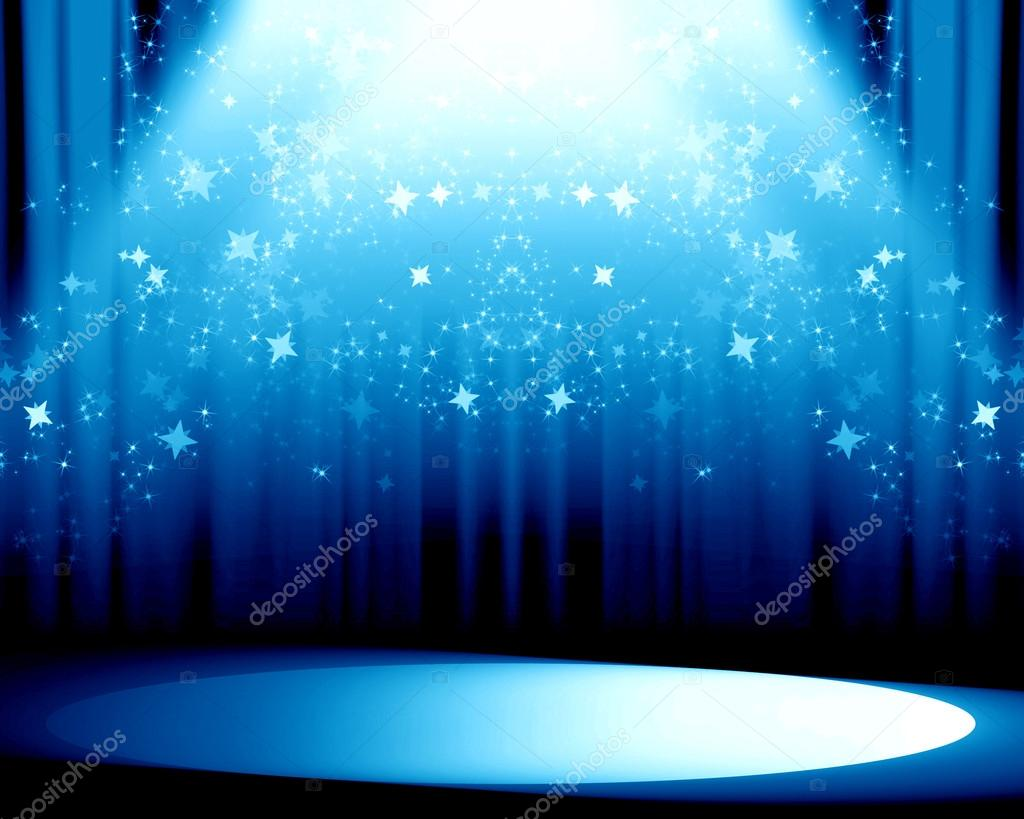 Cortinas azules foto de stock ellandar 32787961 for Cortinas azules para salon