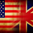 Usa and uk flag — Stock Photo