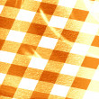 Orange picnic cloth — Lizenzfreies Foto