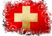 Swiss flag — Stockfoto