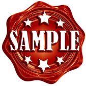 Sample — Stock Photo