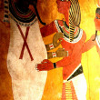 Egyptian wall paintings — Stock Photo