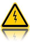 High voltage danger sign — Stock Photo