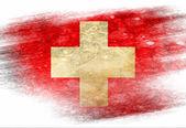 Schweizer flagge — Stockfoto