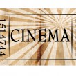 Cinema ticket — Foto Stock