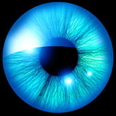 Human iris — 图库照片