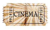 Cinema ticket — 图库照片