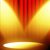 Red curtain with spotlight — Stock Photo