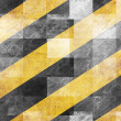 Black and yellow hazard lines — Foto de Stock