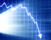 Arrow graph going down — Stock Photo