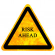 Stock Photo: Risk ahead sign