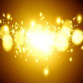Golden xmas lights — Stock Photo