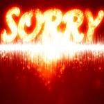 Sorry — Stock Photo #36139491
