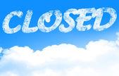 Closed — Stock Photo