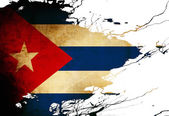 Kubanska flaggaキューバの国旗 — ストック写真