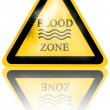 Flood sign — Stock Photo