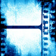 Blue filmstrip — Stock Photo