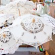 Lace from Burano, sovenir shop - Stock Photo
