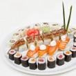 Sushi, isolated on white - Stock Photo