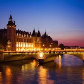 Paris, Seine River Bridge — Stock Photo