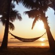 Hammock silhouette — Stock Photo