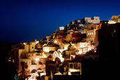 Santorini nattetid — Stockfoto