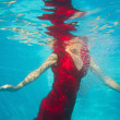 Woman underwater — Stock Photo