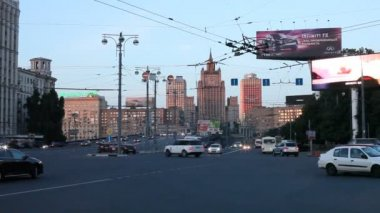 Central streets of Moscow — Stock Video