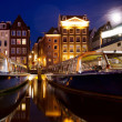 Night scene from Amsterdam — Stock Photo