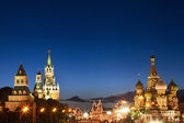 Red square and St. Basil cathedral — Stock Photo