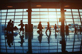 People in the airport — Stock fotografie