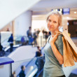 Woman in shopping center  — Stock Photo