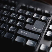 Result sign on computer keyboard — Stock Photo