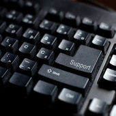Support sign on computer keyboard — Stock Photo