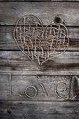 Hart voor valentijnsdag — Stockfoto
