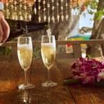 Honeymoon celebration — Stock Photo