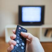 Guardare la tv — Foto Stock