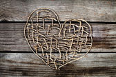 Valentines day metal heart — Stock Photo