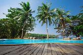 Tropische hotel — Stockfoto