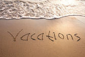 Vacations sign — Stock fotografie