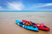 Boat on the shore — Stock Photo