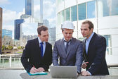 Architects and engineer — Stock Photo