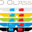 Royalty-Free Stock Vector Image: 3D Glasses