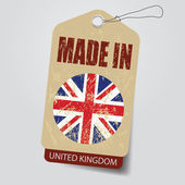 Made in United Kingdom . Tag . — Stock Vector
