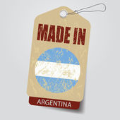 Made in Argentina . Tag . — Stock Vector