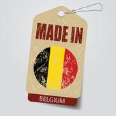 Made in Bwlgium . Tag . — Vetor de Stock
