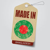 Made in Bangladesh . Tag . — Stock Vector