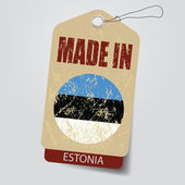 Made in Estonia . Tag . — Stock Vector